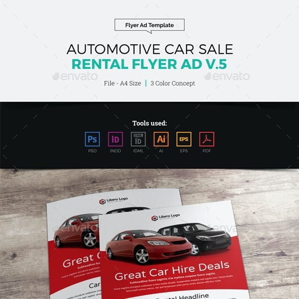 Automotive Car Sale Rental Flyer Ad v5