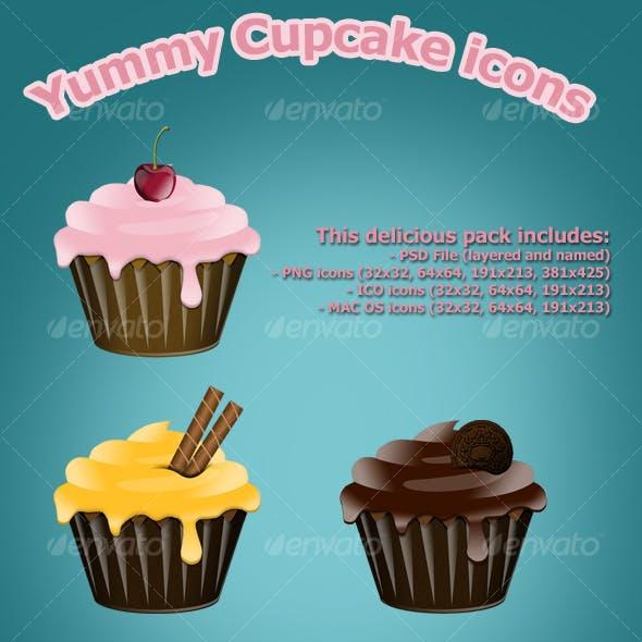 Yummy Cupcake icons