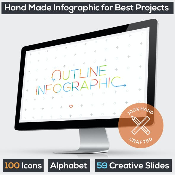 Outline Infographics. Powerpoint Presentation