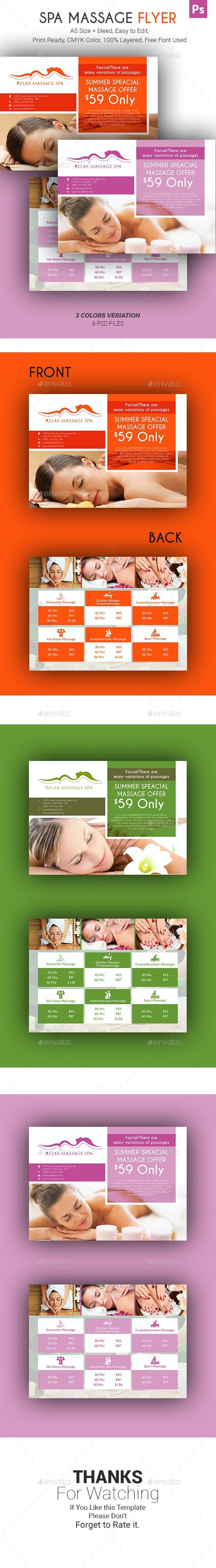 Spa Massage Flyer - Corporate Flyers