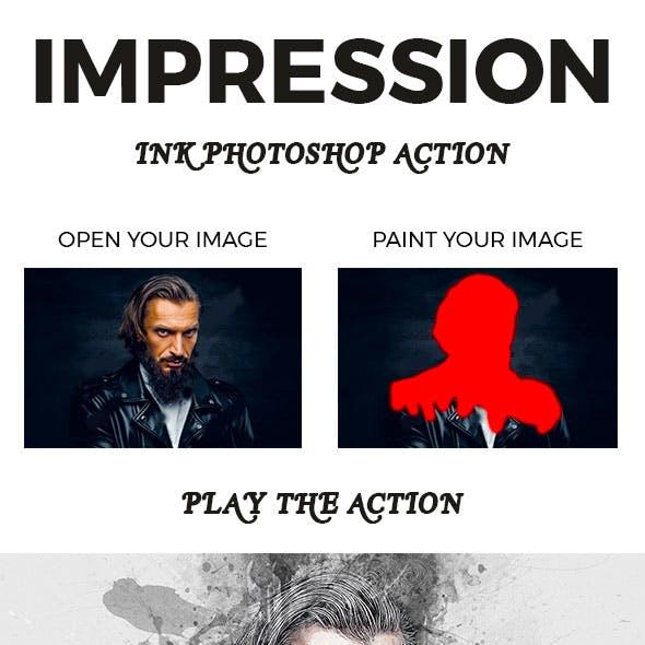 Impression Ink Photoshop Action
