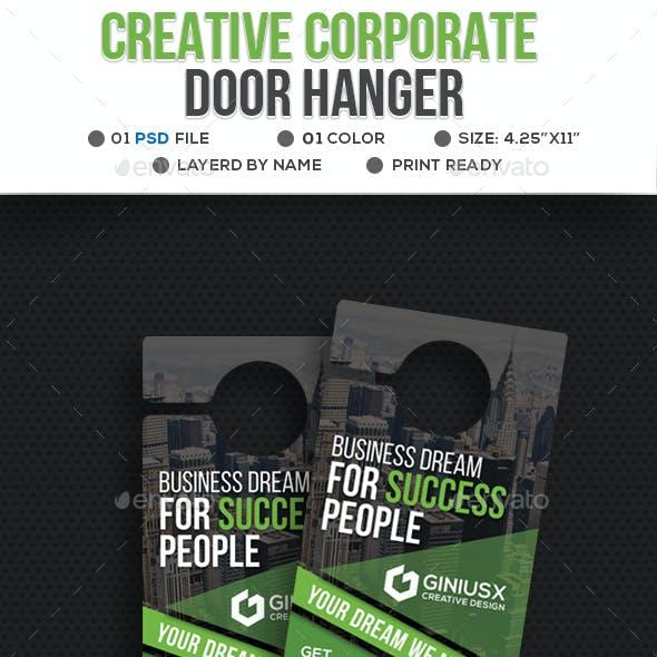 Creative Corporate Door Hanger