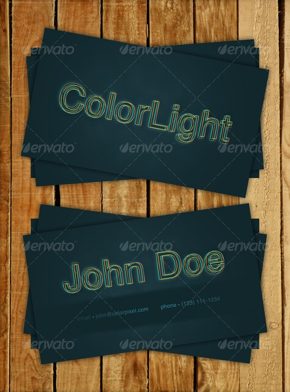ColorLight - Business Card - Creative Business Cards