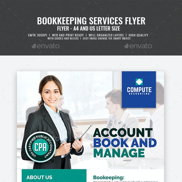 Accounting and Bookkeeping Services Flyer