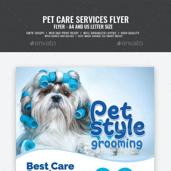 Pet Grooming and Veterinary Services Flyer