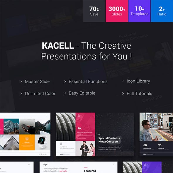 Kacell - Multipurpose & Business Template (Powerpoint)
