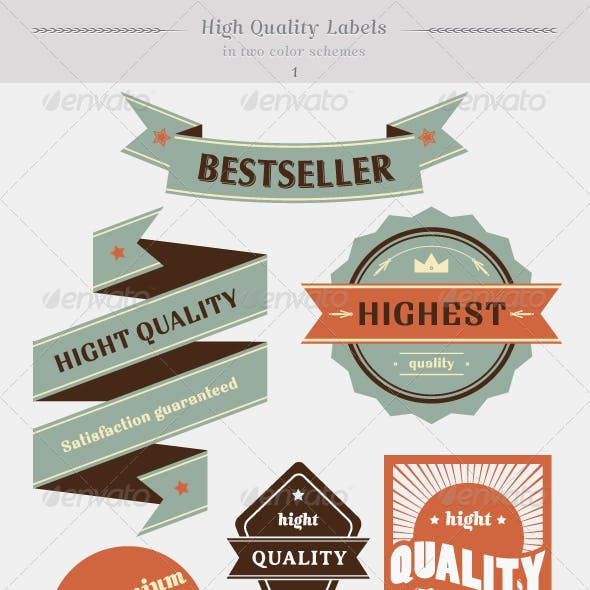 High Quality Labels Whit Vintage Design Stock Vect