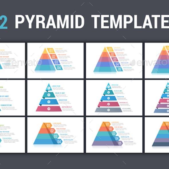 Pyramid Infographics - 12 Templates