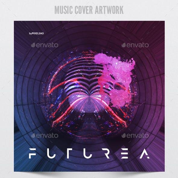 Futurea - Music Album Cover Artwork Template