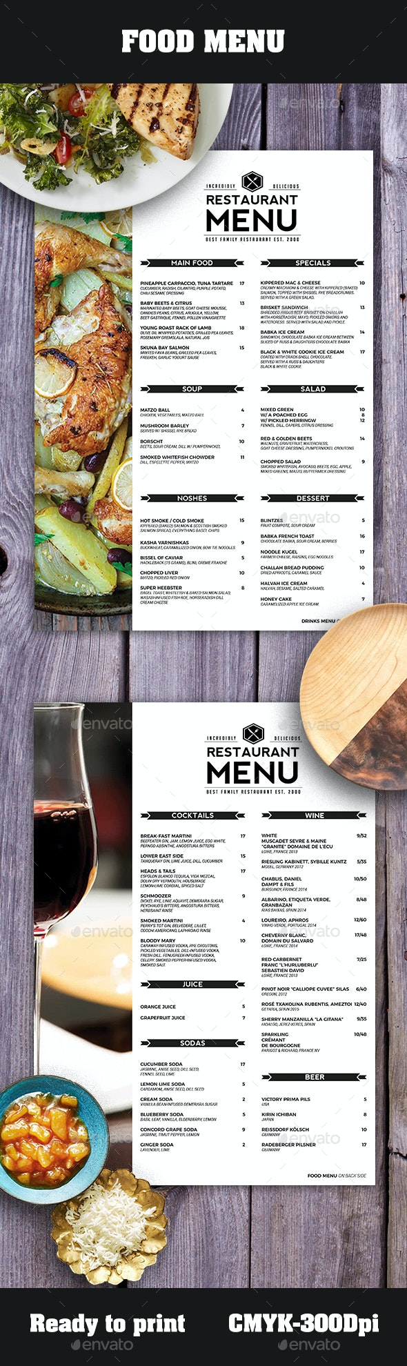 5 Best Menu Templates  for February 2020