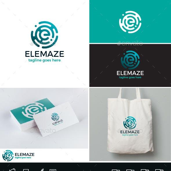 Elemaze Logo • Letter E