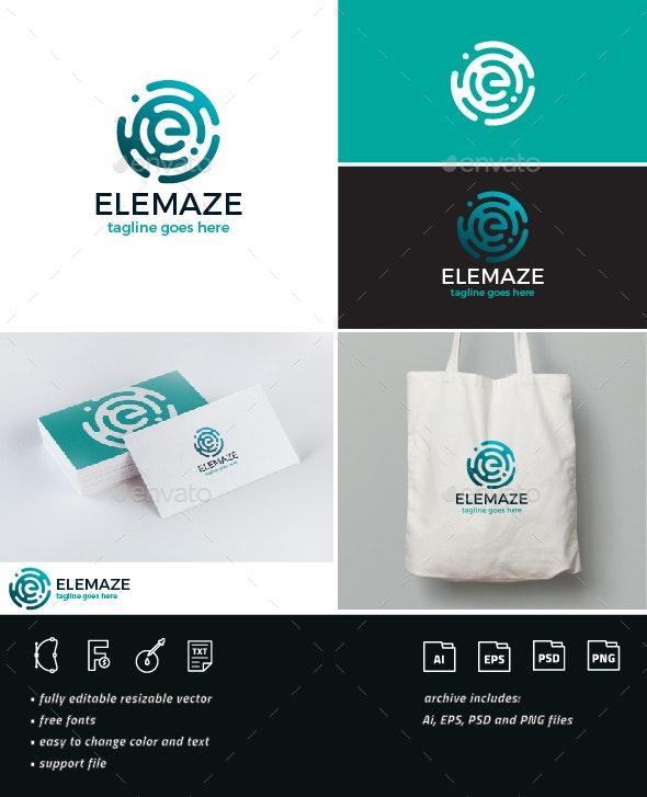 Elemaze Logo • Letter E - Company Logo Templates