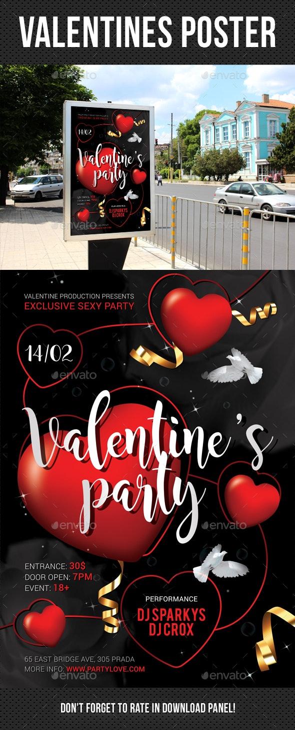 Valentines Poster 2 - Signage Print Templates
