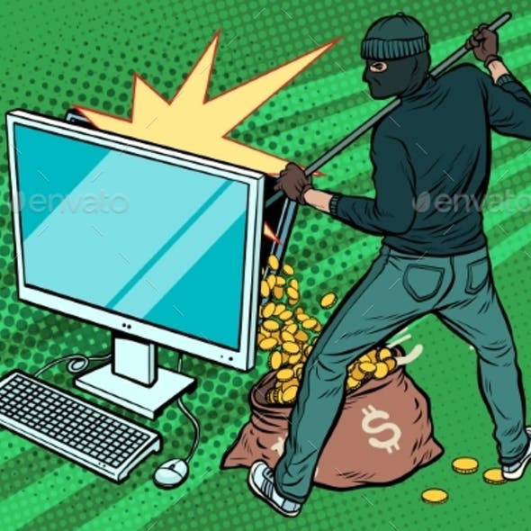Online Hacker Steals Dollar Money From Computer