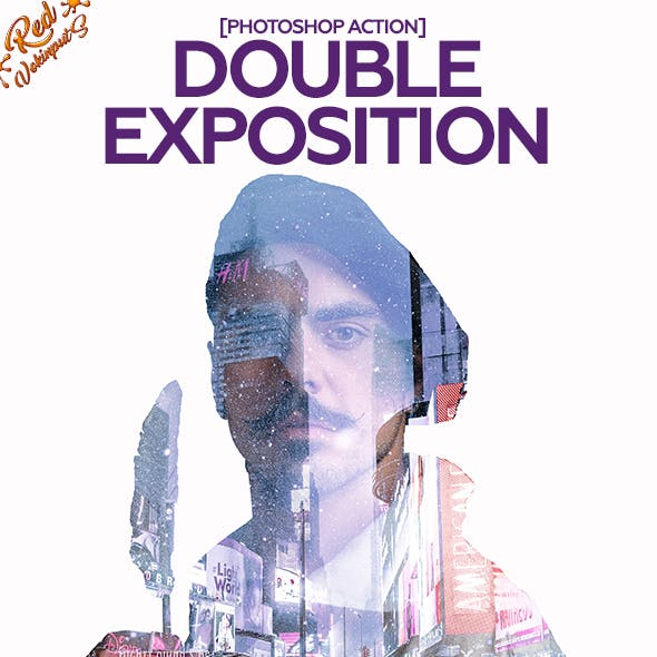 Double Exposition Photoshop Action