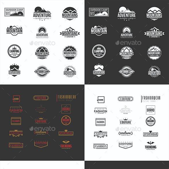79 Badges and Logos Bundle
