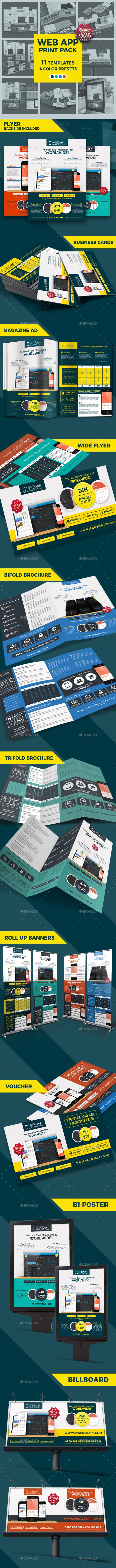 Web App Tech and Hosting Bundle Pack - Stationery Print Templates