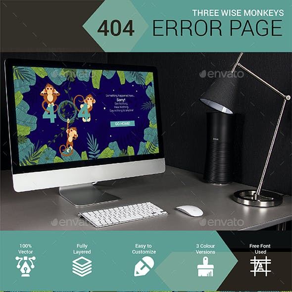 Three Wise Monkeys 404 Error Page