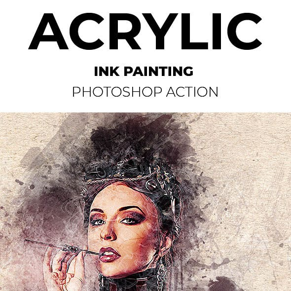 Acrylic Ink Painting Photoshop Action