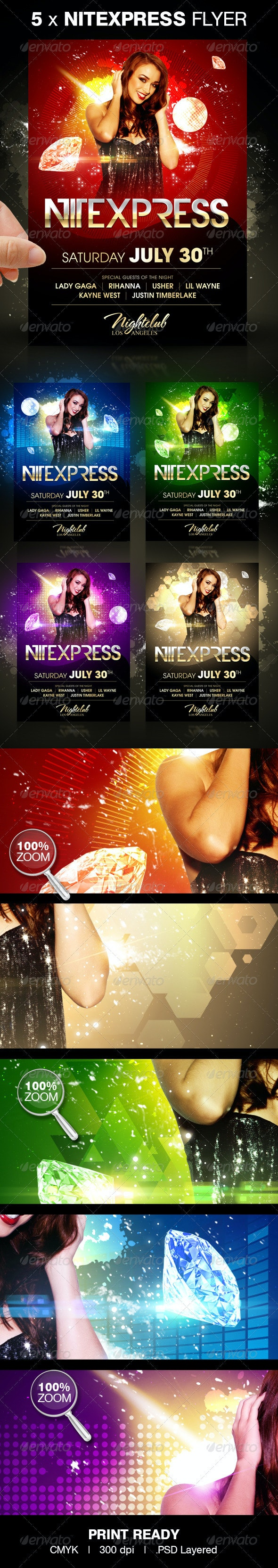Nitexpress Party Flyer - Clubs & Parties Events