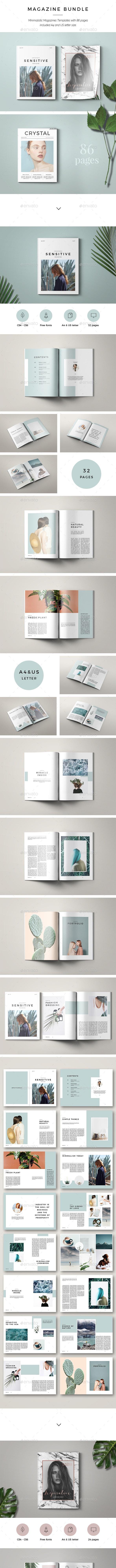 Bundle Magazines 3 in 1 - Magazines Print Templates