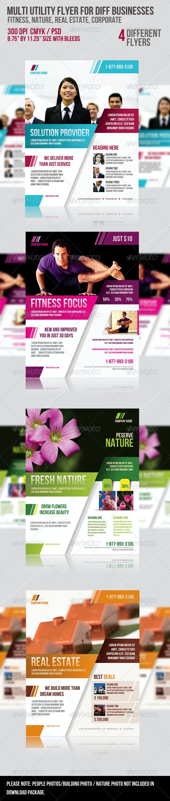 Multi-utility Flyer For Different Business - Corporate Flyers