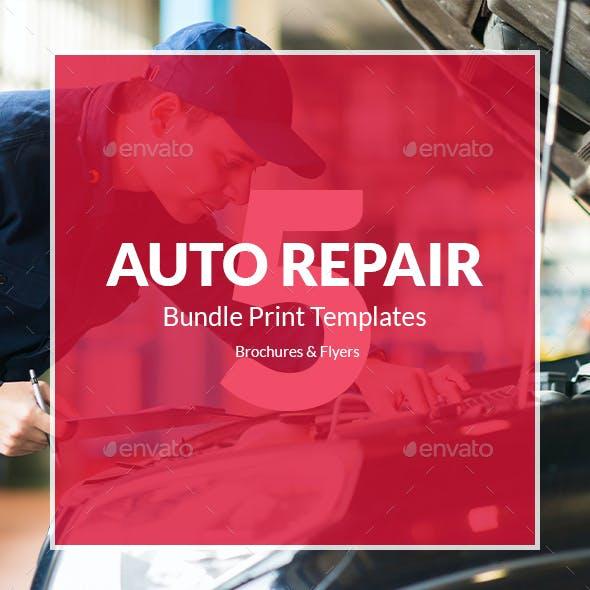 Auto Repair – Bundle Print Templates 5 in 1