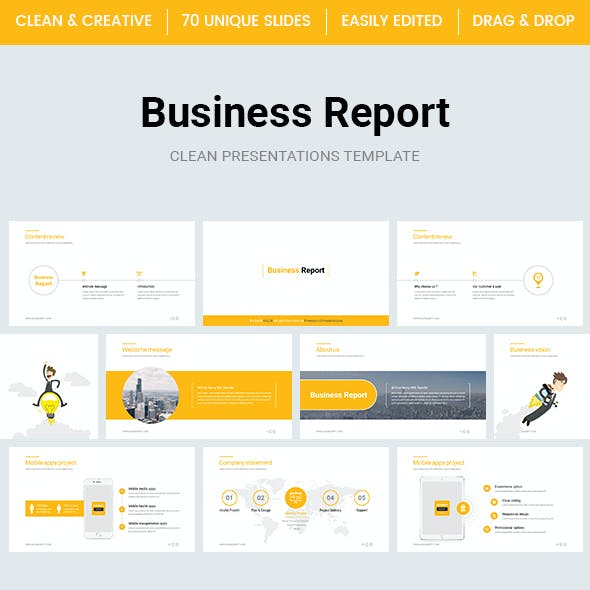 Business Report PowerPoint Template 2018