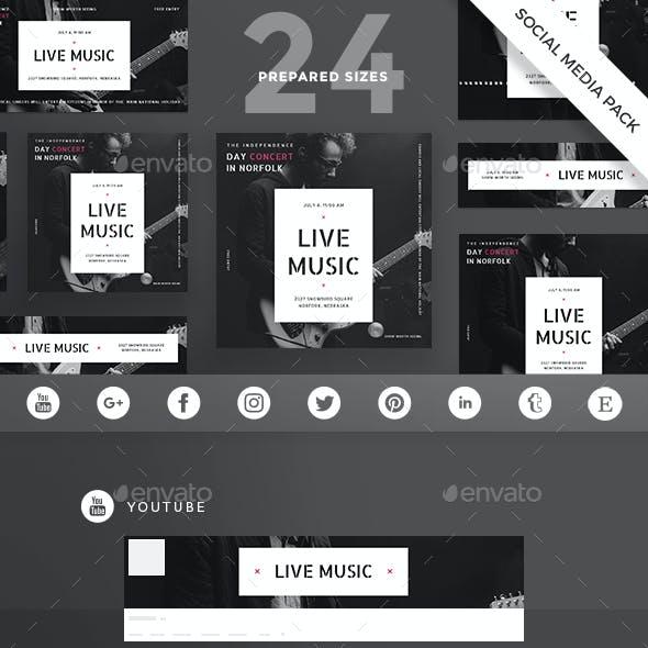 Live Music Social Media Pack