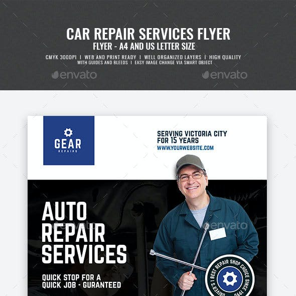 Auto and Car Repair Center Flyer