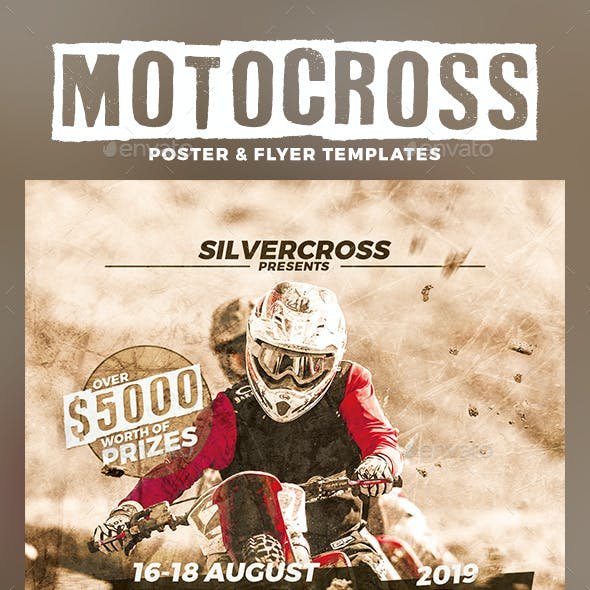 Motocross Flyer and Poster