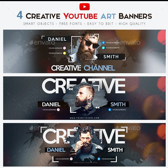 Creative YouTube Art Banner