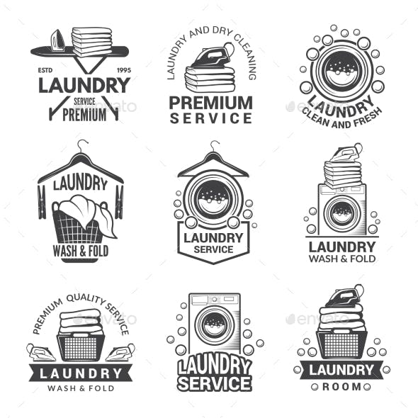 Labels or Logos for Laundry Service