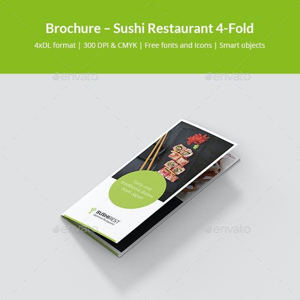 Brochure – Sushi Restaurant 4-Fold