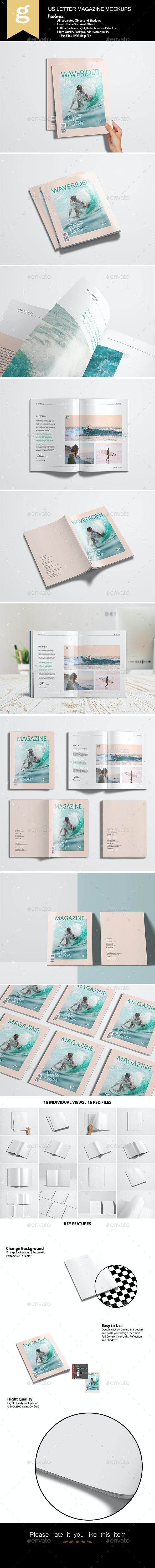 Us Letter Magazine Mock-Up - Magazines Print