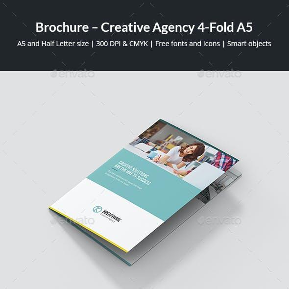Brochure – Creative Agency 4-Fold A5
