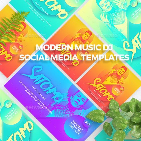 Multipurpose Modern Music DJ Social Media