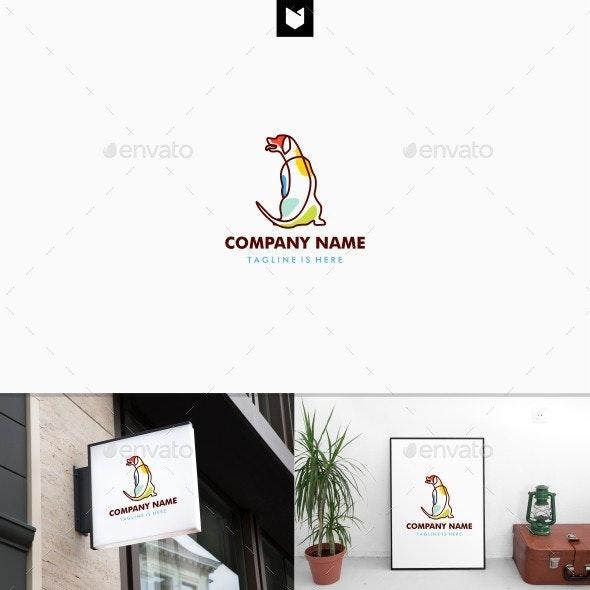 Sitting Dog Logo Template