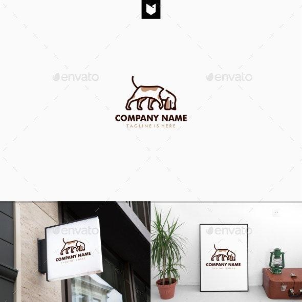 Walking Dog Smells Logo Template