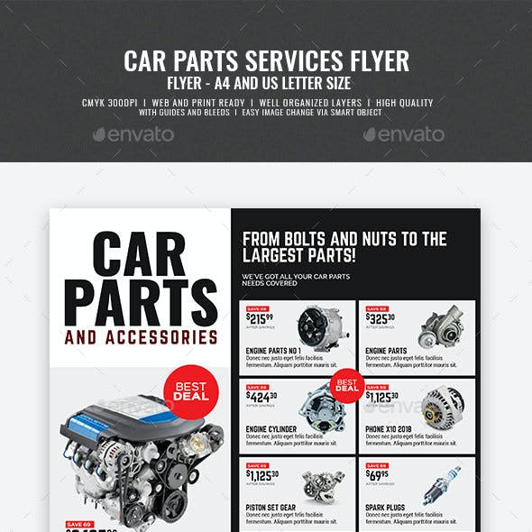 Car and Auto Supply Shop Flyer