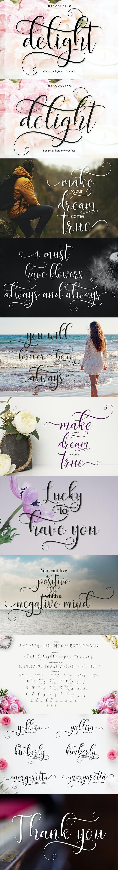 Delight - Script Fonts
