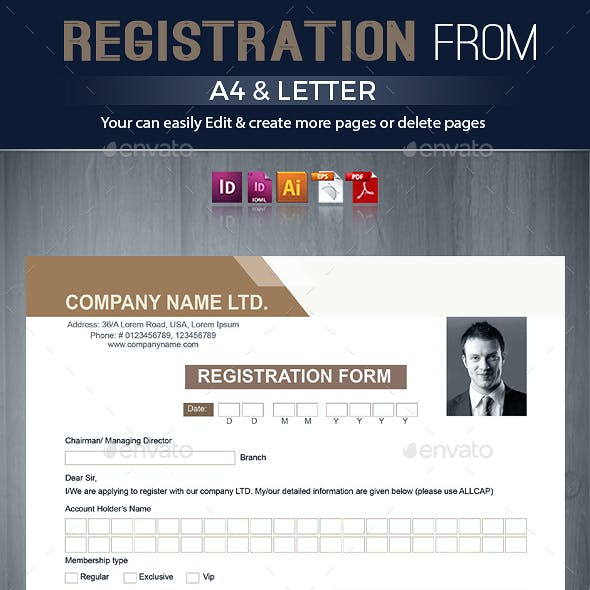 Registration & Contact Form