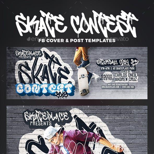 Skate Contest Facebook Cover