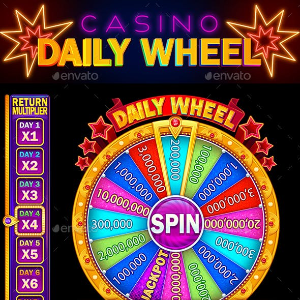 Daily Fortune Wheel Bonus Game for Slots