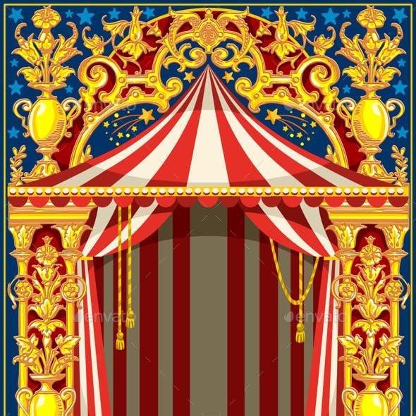 Carnival Poster Vintage Circus Theme