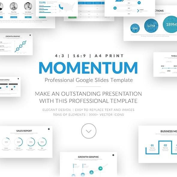 Momentum Professional Google Slides Template Business Pitch Deck