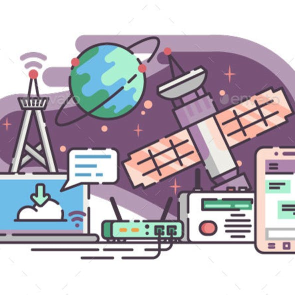 Space Satellite for Communication Internet