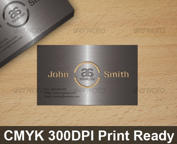 Metal Look Cut Out Card - Real Objects Business Cards