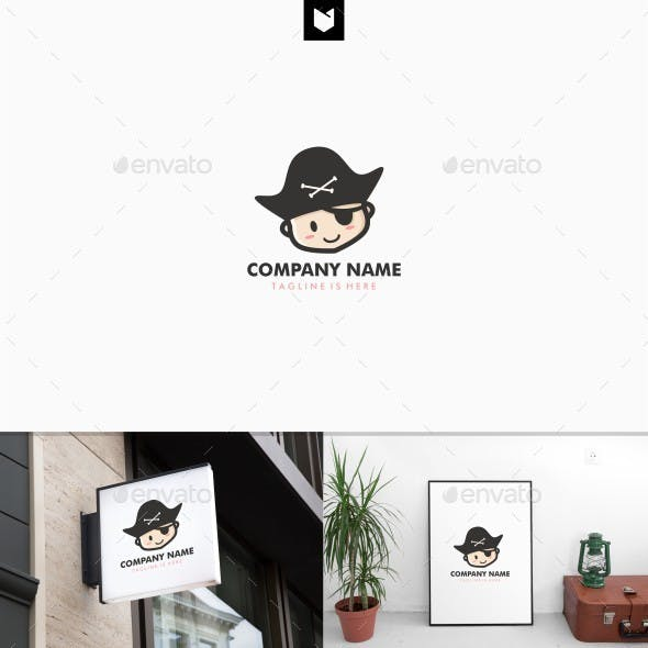 Baby pirate logo template