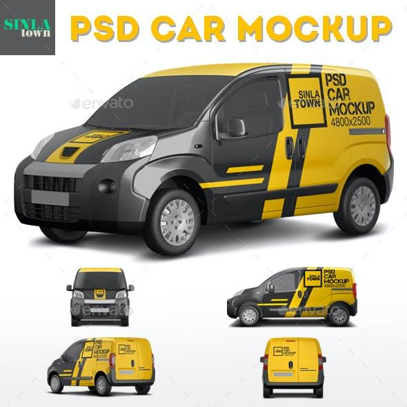 Realistic PSD Car Mockup